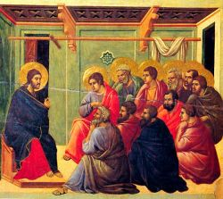 DUCCIO DI BONINSEGNA, Gesù e i discepoli