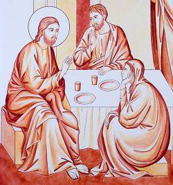Le icone di Bose - Amici del Signore - stile italico - sinopia su tavola telata e gessata