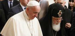 Il Patriarca  Ilia II di Georgia e papa Francesco a  Tbilisi, Georgia.