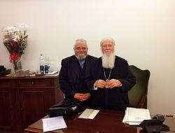 Il priore di Bose fr. Enzo Bianchi con S.S. Bartholomeos I, patriarca ecumenico