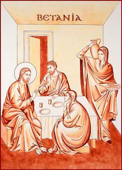 Sinopia in stile italico cm 50x80  - tavola telata e gessata