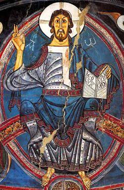 Maiestas Domini, affresco San Clemente di Tahull - Romanico catalano
