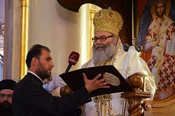 Intronizzazione di Giovanni X, patriarca di Antiochia. Damasco, Chiesa della Santa Croce