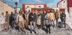 Liu Xiaodong, Things Aren't as Bad as They Could Be [Le cose non vanno così male come potrebbero andare] ritratto di migranti presenti a Milano (nella stessa posa del Quarto Stato di Pelizza da Volpedo), 2017 per la mostra La Terra Inquieta.