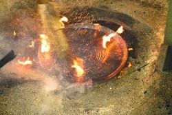 a cerâmica raku de Bose - um prato tirado do forno
