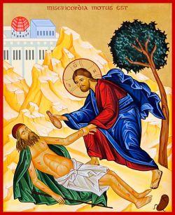 Tempera all'uovo su tavola telata e gessata cm 32 x 40 (particolare)  - stile bizantino