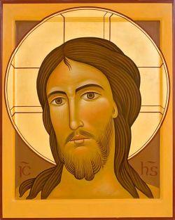 Os ícones de Bose Vulto de Cristo em estilo itálico - têmpera de ovo sobre tábua