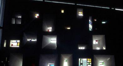 Le corbusier, Notre Dame du Haut, Ronchamp, particolare delle finestre
