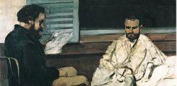 Paul Cezanne, Paul Alexis legge un manoscritto a Emile Zola, 1870, olio su tela, Museo d'arte di San Paolo, Brasile.