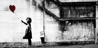 Banksy, C'è sempre speranza, street art, South Bank, Londra