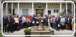 14 febbraio 2018, i membri del Gruppo di studio teologico del Pellegrinaggio di Giustizia e Pace del CEC, riuniti a Bogotà, in Colombia, si sono uniti ai leader cristiani locali per una liturgia penitenziale e per il lancio della campagna