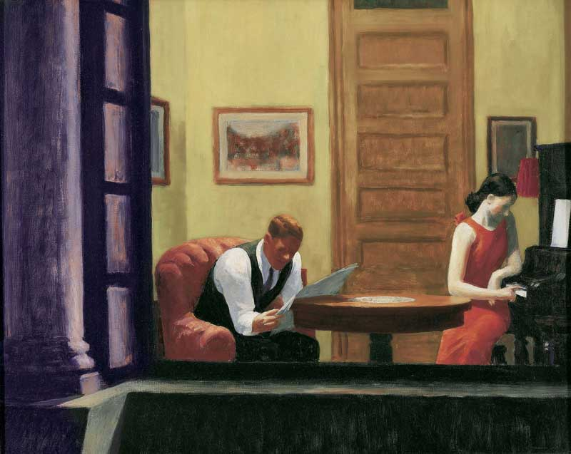 Edward Hopper, Room in New York, Sheldon Museum