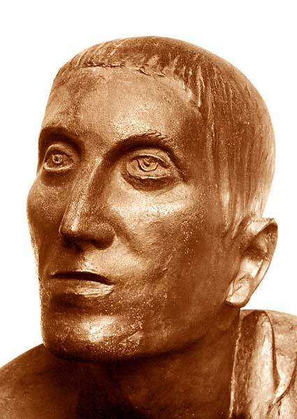 ARTURO MARTINI, IL figliol prodigo, particolare del volto del figlio