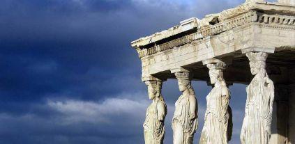 Le cariatidi dell'acropoli di Atene