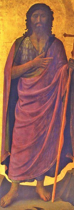 Beato Angelico, Giovanni Battista, tabernacolo dei linaioli, 1433 circa, Firenze