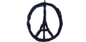 Banksy, Paris Peace - In questi semplici tratti lo street artist Banksy sovrappone due simboli eloquenti: la tour Eiffel e il simbolo della pace. Un simbolo, un monito, una speranza...