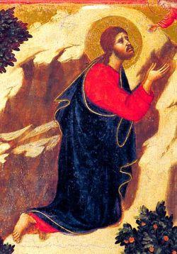 Tempera su tavola - Maestà (particolare della tavola del Getsemani)  Siena