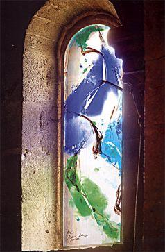 KIM EN JOONG, vetrata dell'abside della chiesa del monastero di Ganagobie, Francia