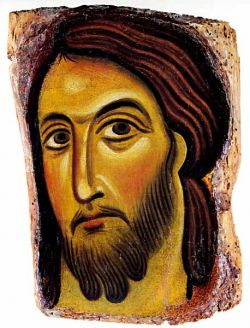 Fragment of a painted cross, Master of Calci  - XIII cent.