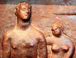 Bassorilievo in bronzo cm  41,5 x 28,5  - Raccolta Manzù  -  Ardea Italia