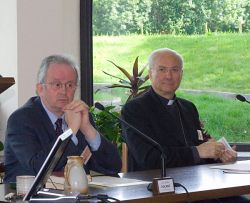 CAMILLE FOCANT, Louvain-la-Neuve et Mgr PIERO MARINI, Cité du Vatican