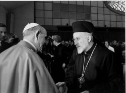 Paul VI et le métropolite Emilianos di Silyvria