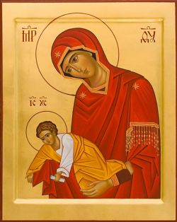 The icons of Bose - Byzantine style - egg tempera on wood board