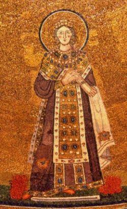 AGNESE, mosaico, Roma.
