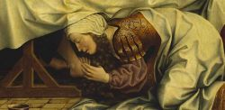 Maestro fiammingo, La donna di Betania (particolare), olio su tavola, 1510–1520, Budapest
