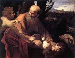 CARAVAGGIO, Il sacrificio di Isacco - Olio su tela, 104 x 135 cm - Galleria degli Uffizzi Firenze