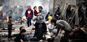 Profughi siriani nel campo di Harmanli,Bulgaria