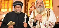 Anba Antonio, vescovo di Milano e Tawadros II Papa di Alessandria e Patriarca della Sede di San Marco