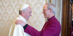Papa Francesco e l'Arcivescovo di Canterbury Justin Welby