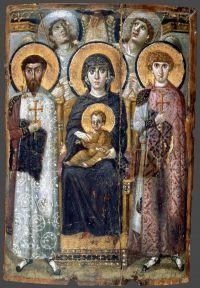 Santa Caterina del Sinai, Madre di Dio con Bambino, san Teodoro Statelate e san Giorgio, angeli: fine 6°-inizio 7° sec.