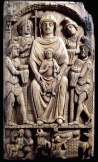 Avorio bizantino (500-550) Adorazione dei magi e Natività. British Museum
