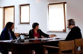 Sergio Valzania e Rita Salerno, conduttori del programma con Michel Van Parys