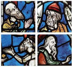 Volti, vetrata di Chartres