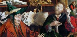 Marinus van Reymerswale, L'amministratore disonesto, 1540, olio su tavola di quercia, 77 x 96,5 cm, Kunsthistorisches Museum, Vienna