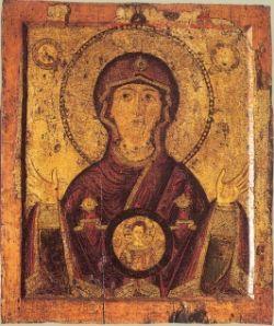 MARIA DEL SEGNO, la figlia di Sion, icona del XIII sec.