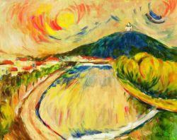 Paesaggio anni '70, olio su tela cm 50x40