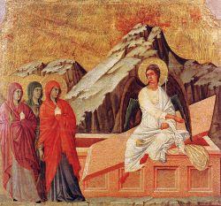 Duccio di Buoninsegna, Le donne al sepolcro