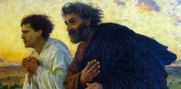 Eugene Burnand, Il mattino della resurrezione (particolare), 1898, Parigi, Musée d'Orsay