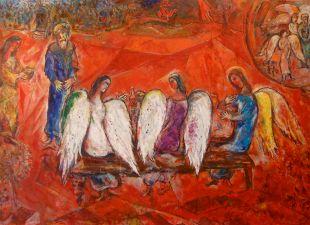 Chagall, La visita dei tre angeli