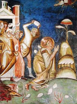 Roma, affresco della chiesa di san Lorenzo in Palatio ad Sancta Sanctorum