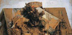 Safet Zec, Tavolo, Tecnica mista, 122x160 cm, 1995.