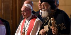 Il Papa di Alessandria Tawadros II e papa Francesco