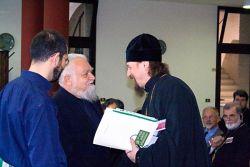 il priore Enzo Bianchi e l'arcivescovo Ioann di Belgorod