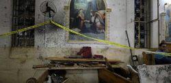 La chiesa copta di Tanta dopo l'attentato (Mohamed Abd El Ghany/Reuters)