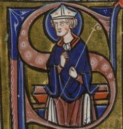 ROBERTO D'ARBRISSEL, miniatura del Graduale di Fontevraud, XIII sec.