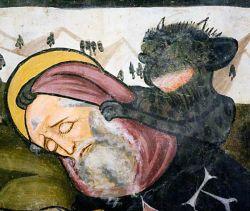 Fresque, 1472  - San Fiorenzo de Bastia di Mondovì - Italie
